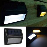 6 LED cms lampe solaire de capteur de lumière du panneau clôture ip65 jardin mur extérieur