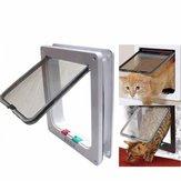 Fournitures pour chien chiot chien chat moyen petit blanc cadre de verrouillage sécurité sécurisé porte à rabat porte fournitures pour animaux de compagnie