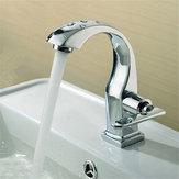 LlavedepasocromadoPalancaindividual Inicio Cuarto de baño Lavamanos de grifo de lavabo Grifo de agua fría
