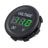 DC 12V LED Panel Digital Voltage Meter Display Voltmeter For Car Motorcycle Boat