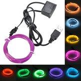 3M Single Color 5V USB Flexible Neon EL Wire Light Dance Party Decor Light