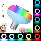 E27 12W RGB luz LED Bombilla Lámpara Bluetooth Control remoto Altavoz de música Reproducir AC85-265V