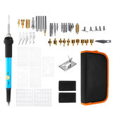 Original 60PCS 60W Wood Burning Pen Set Tips Stencil Solder Iron Tools Pyrography Crafts Kit