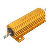 50W 0.5R 1R 2R 2.2R 4R 6R 8R 10R 20R Ohm Aluminum Shell Power Case Wirewound Resistor