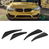Real Carbon Fiber Side Fins Canards Car Stickers 4PCS for Mercedes-Benz/BMW/Audi/Lexus