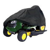182x111x116cm Black Waterproof Riding Lawnmower Tractor Cover UV Protection Outdoor Storage