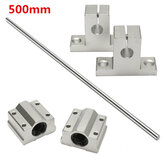 8mm x 500mm Linear Rail Shaft Rod with Bearing Guide Support and Bearing Block