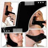 Peine para Dar Forma a la Barba para Afeitado Simétrico Kit de Plantillas de Estilo de Moldeador de Barbas Guía
