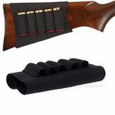 Hunting Tactical Shotgun Pouches 5 Butt Cartridges Shell Holder Elastic Bag