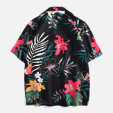 Original Men Floral Printed Leisure Vacation Hawaiian Shirts