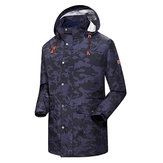 LAYNOS 2 In 1 Winter Outdoor Waterproof Fleece Coat Mid-long Climbing Skiing Jacket