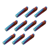 Drillpro 10pcs HRC45 Blue Nano MGMN200-G 2mm Carbide Insert for MGEHR/MGIVR Turning Tool Holder