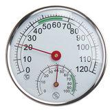 Thermomètre / hygromètre d'acier inoxydable pour le mètre d'humidité de la température ambiante de sauna