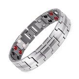 Punk Men en acier inoxydable 4 en 1 bracelet magnétique forte