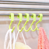 5pcs S Shape Hook Clothes Holder Kitchen Bathroom Hanger Household Storage Clasp Rack