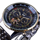 JARAGAR F120506 Fashion Automatic Mechanical Watch Stainless Steel Strap Men Wrist Watch