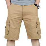 Big Size Cotton Men's Shorts Summer Multi Pockets Leisure Washing Cargo Shorts