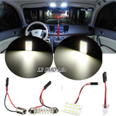 T10 BA9S 12 SMD LED Car Dome Light Reading Lamp Panel Interior Xenon White