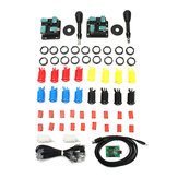 Arcade Parts Bundles Kit with American Joystick Push Button Micro Switch 2 Player USB Board