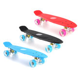 22 '' LED Light Up Fish Skateboard 4 PU roue unique Warping Conseil Adolescents enfants planche à roulettes