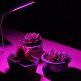 4.5W Full Spectrum 27 LED Plant Grow Light DC5V / USB Metal Flexible Tube