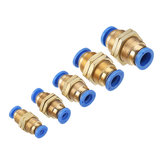 Original Machifit Pneumatic Conector PM Partition Straight Through Quick Joint Fittings PM4 / 6/8/10/12