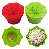 Popcorn Popper Maker DIY Silicone Popcorn Maker Fold Bucket Red Kitchen Storage Container