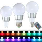 E27 E14 GU10 3W Dimmable Remote Control RGB Color Change LED Lamp Light Bulb 85-265V
