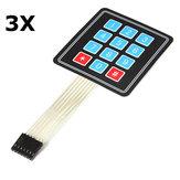 3Pcs 4 x 3 Matrix 12 Key Array Membrane Switch Keypad Keyboard For Arduino
