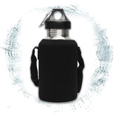 2L Large Stainless Steel Water Bottle Sports Exercise Drinking Kettle With Carrier Bag Holder