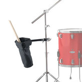 Black Nylon Drums Drumsticks Bag with Stage Style Clamp
