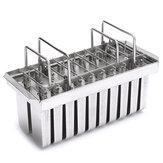 Original Molde para helados de acero inoxidable Congelado Molde para paleta de hielo Palo Molde para hielo con 20 enrejados