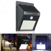 20 LED Solar Powered PIR Motion Sensor Wall Light Outdoor Security Garden Lamp