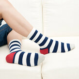 High Tube Trendsetter Stripe Socks Multicolor Men Women Casual Breathable Cotton Socks