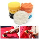 11pcs herramienta de pulido de esponja coche 4inch set depilación con cera de pulir kit de limpieza plataforma de lavado