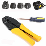 WXK-30JN Insulated Terminals Ferrules Crimping Plier Ratcheting Crimper Tool with 5 Interchangeable Tips
