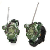 2 stuks 7 In 1 Kinderen Two Way Radio Walkie Talkie Kinderen Camouflage Wrist Watch