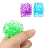 Squishy MultiColor Tofu Mesh Stress Reliever Ball 5*4*2CM Squeeze Stressball Party Bag Fun Gift