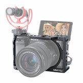 Original UURIG C-A6400 Vlog Carcasa Caja bastidor Estabilizador de plataforma para Sony A6400 A6300 DSLR Cámara Con 1/4 3/8 Soporte de zapato frío