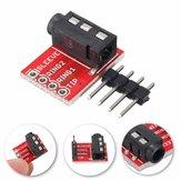 3pcs 3.5mm Plug Jack Stereo TRRS Headset Audio Socket Breakout Board Extension Module