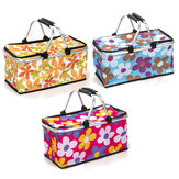 30L Picnic Storage Baskets Folding Insulated Cooler Bag Waterproof Camping Lunch Bag Shopping Basket
