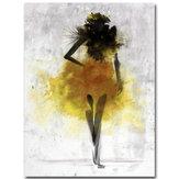 Peinturesàl'huiledetoileart minimaliste jaune fille abstraite encadrée encadrée / sans cadre
