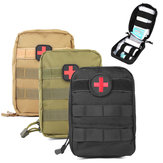 IPRee® Waterproof Nylon Tactical Molle Bag Medical First Aid Utility Emergency Pouch Camping Hiking