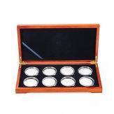 Porte-pièces de rangement en bois pour pièces de 8 pièces
