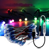 5M 50PCS WS2811 RGB IP68 Full Color LED Pixel Module Strip Light with 3keys Controller DC5V