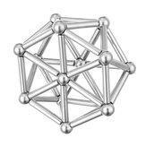 63Pcs Neodymium Magnetic Bars Metal Balls Permanent Magnet Pressure Relief Neodymium Magnet