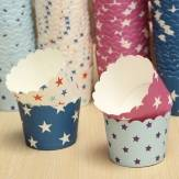 50Pcs Star Pattern Cup Cake Paper Muffin Cup High Temperature Baking Cup