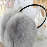 Women Girls Winter Cute Rabbit Fur Warm Ear Muffs