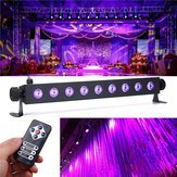27W 9 LED UV 395-400NM Remote Control Stage Light Wall Wash Lamp for Party Halloween Club DJ
