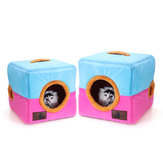 Soft Cosy Igloo Cave Warm Pet Bed Dog / Puppy / Cat / Kitten Cube House Pet Bed